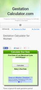Gestation Calculator